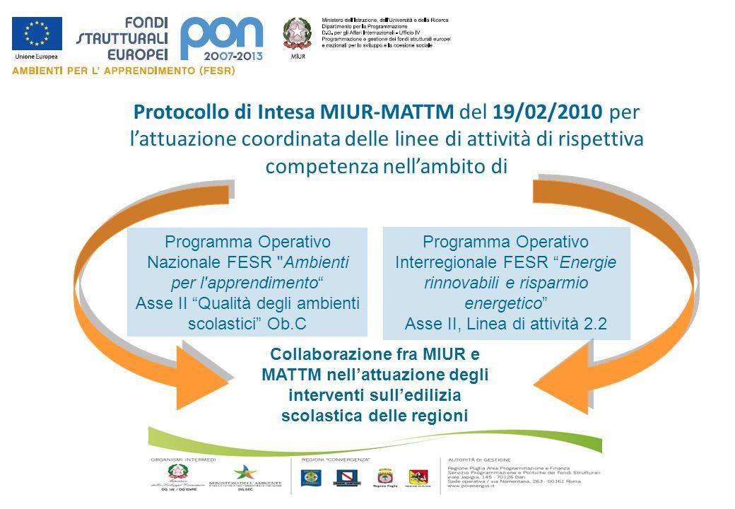 Protocollo di Intesa MIUR-MATTM del 19/02/2010 per l'attuazione coordinata delle linee di attività di rispettiva competenza nell'ambito di