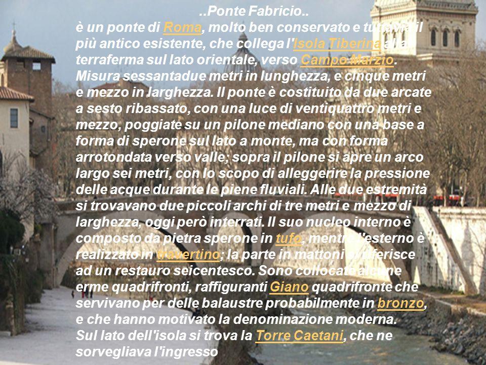 ..Ponte Fabricio..