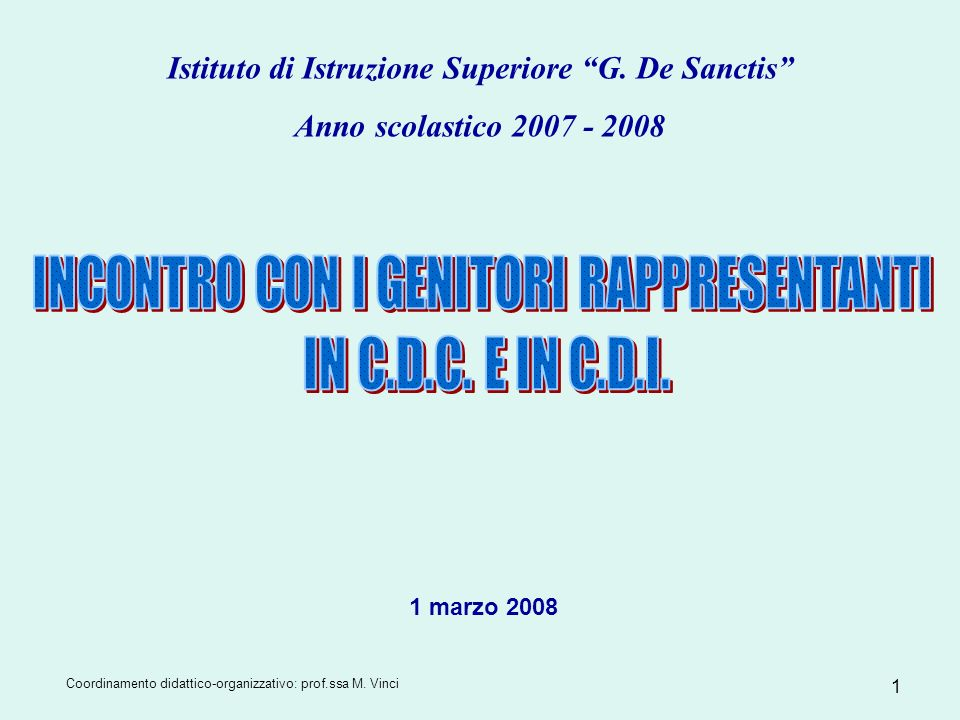 Istituto di Istruzione Superiore G. De Sanctis