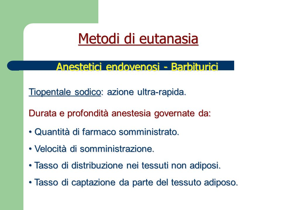 Anestetici endovenosi - Barbiturici