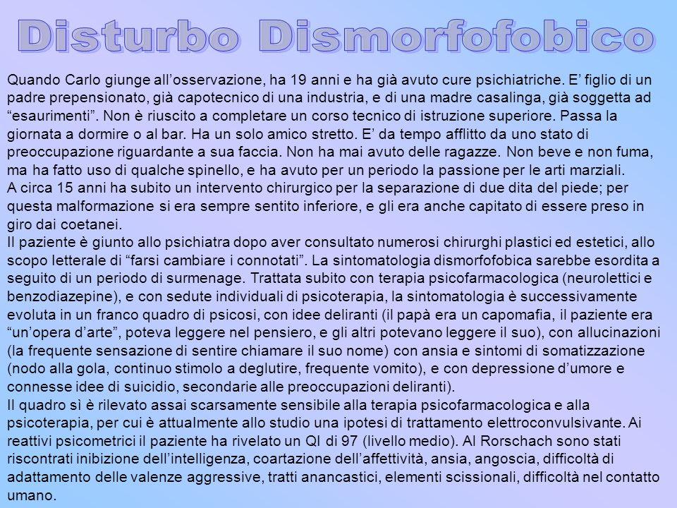 Disturbo Dismorfofobico