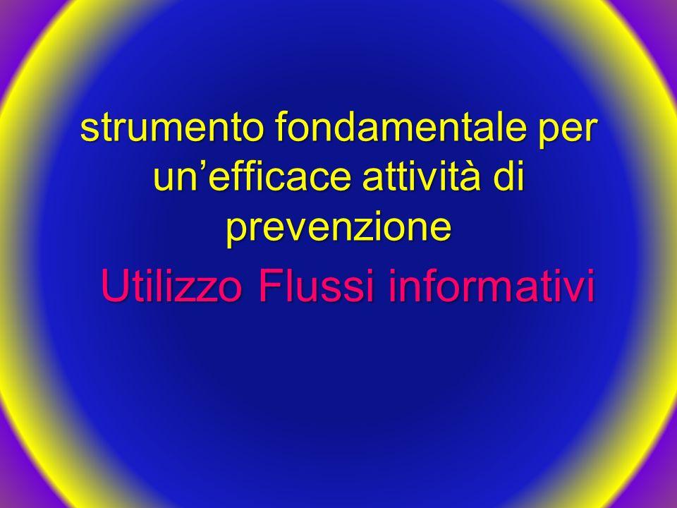 strumento fondamentale per un'efficace attività di prevenzione