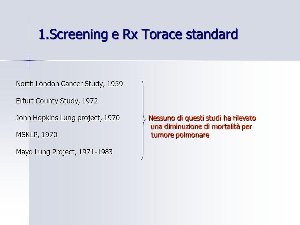 1.Screening e Rx Torace standard