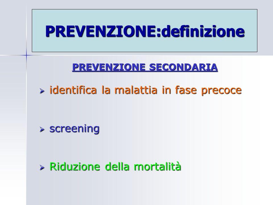 PREVENZIONE:definizione