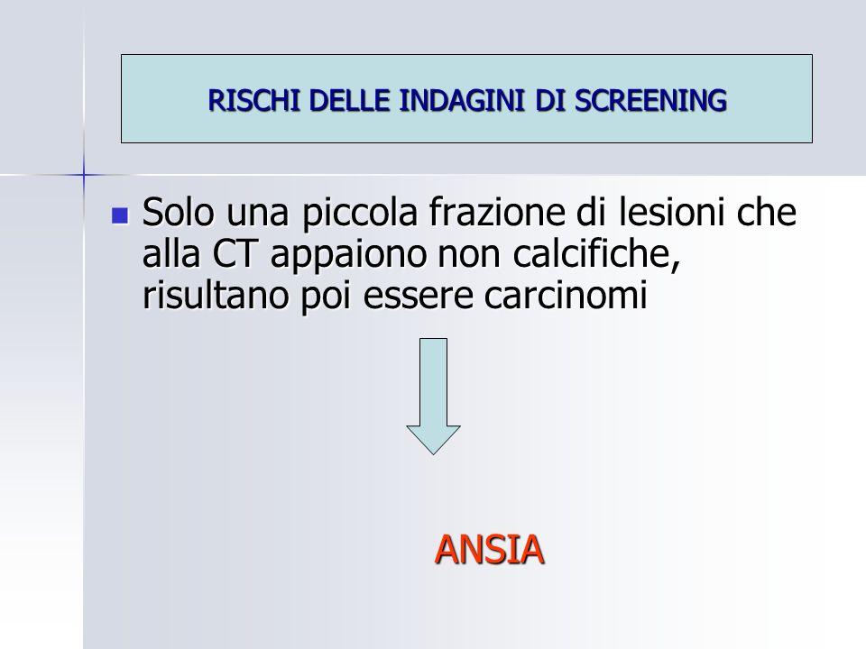 RISCHI DELLE INDAGINI DI SCREENING