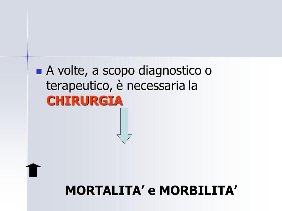 A volte, a scopo diagnostico o terapeutico, è necessaria la CHIRURGIA