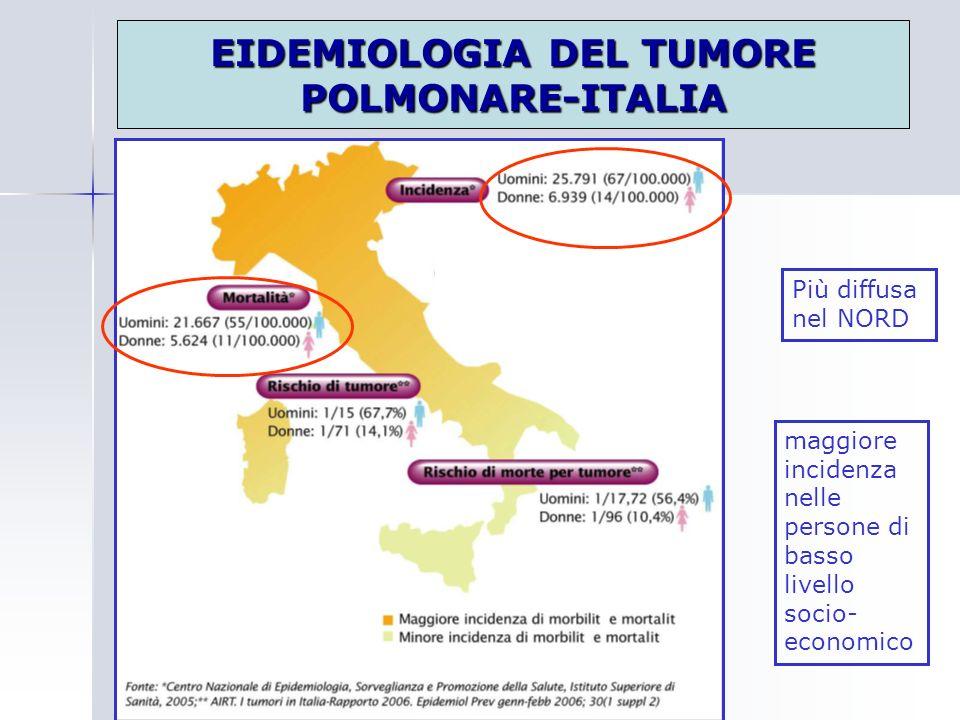 EIDEMIOLOGIA DEL TUMORE POLMONARE-ITALIA