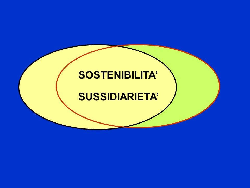 SOSTENIBILITA' SUSSIDIARIETA'