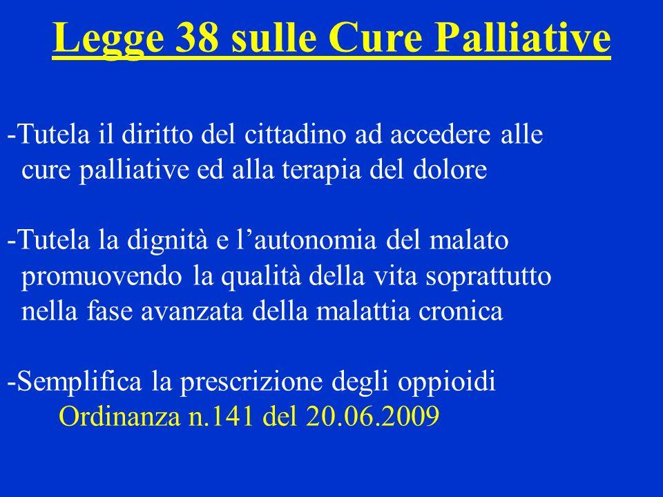Legge 38 sulle Cure Palliative