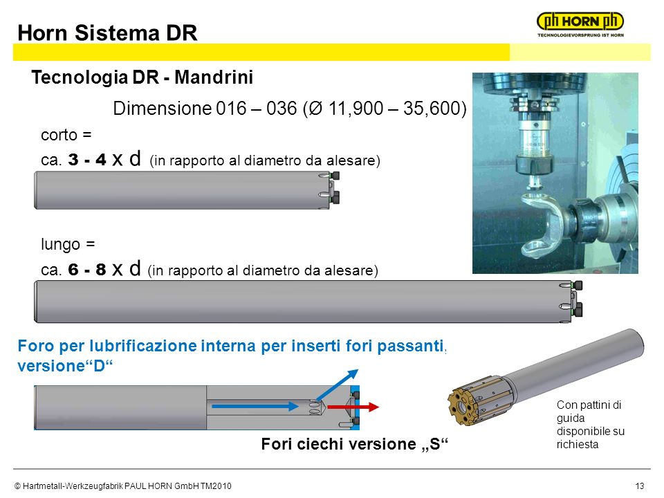 Horn Sistema DR Tecnologia DR - Mandrini