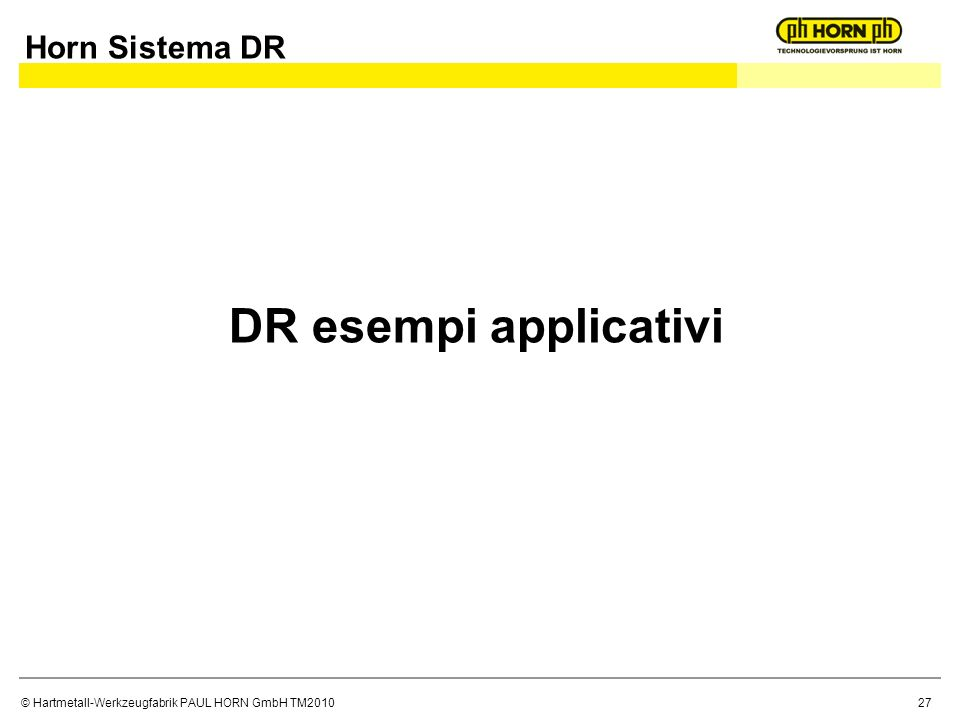 Horn Sistema DR DR esempi applicativi