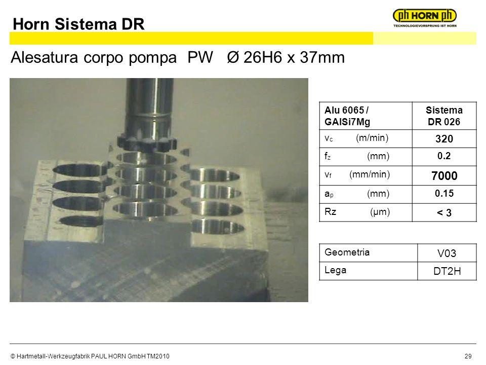 Alesatura corpo pompa PW Ø 26H6 x 37mm
