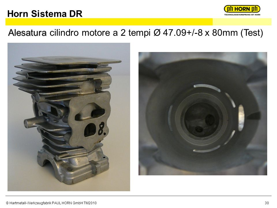 Horn Sistema DR Alesatura cilindro motore a 2 tempi Ø 47.09+/-8 x 80mm (Test)
