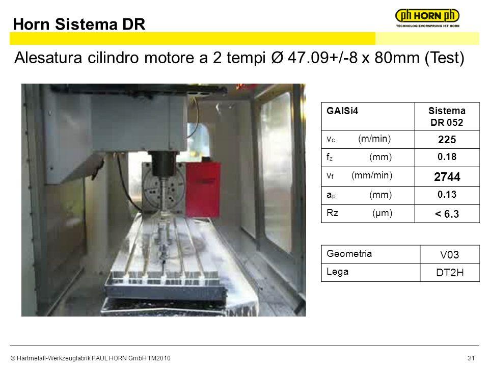 Alesatura cilindro motore a 2 tempi Ø 47.09+/-8 x 80mm (Test)