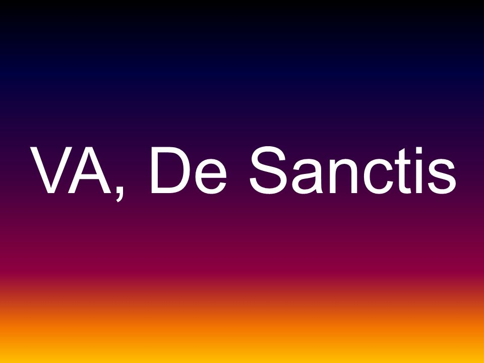 VA, De Sanctis