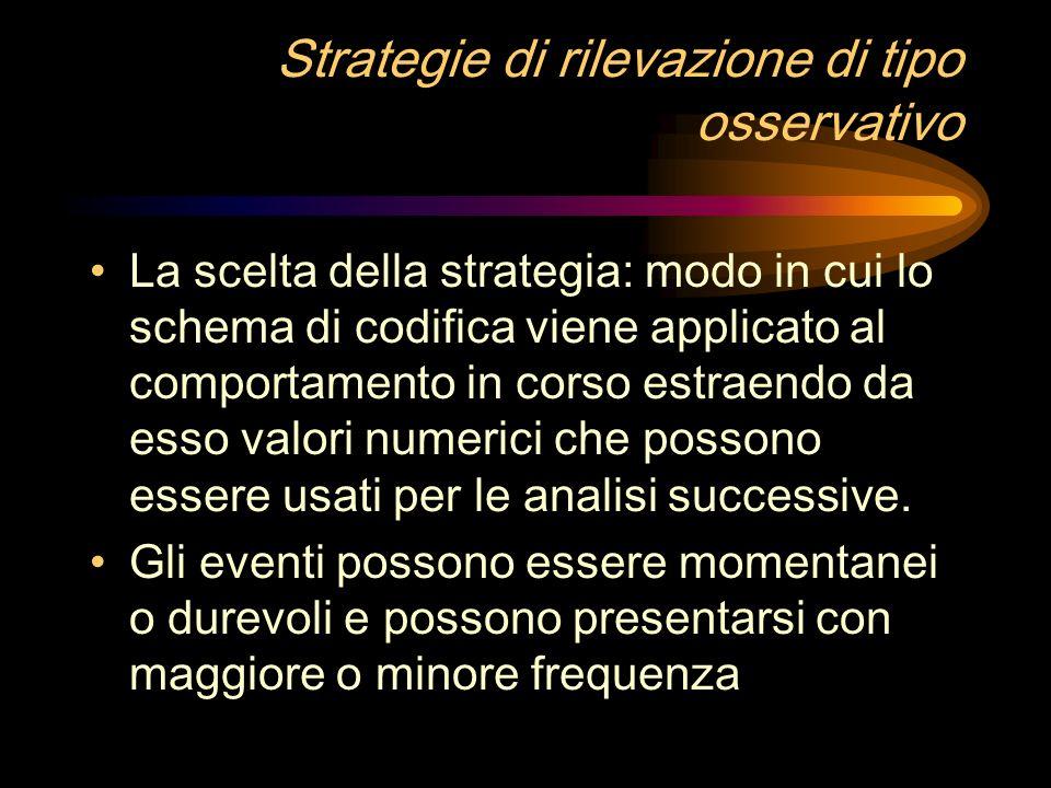 Strategie di rilevazione di tipo osservativo