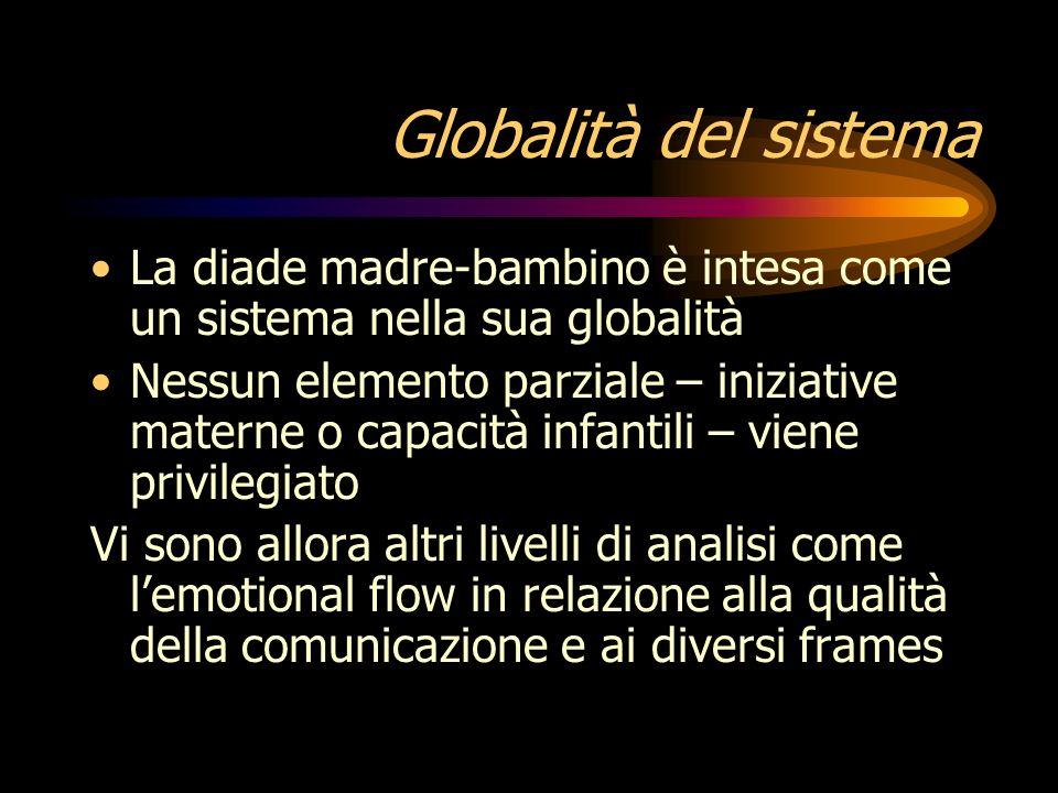 Globalità del sistema La diade madre-bambino è intesa come un sistema nella sua globalità.