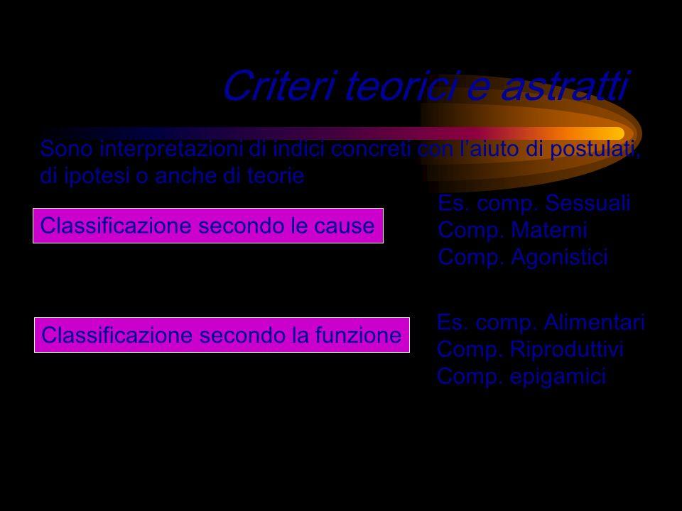 Criteri teorici e astratti