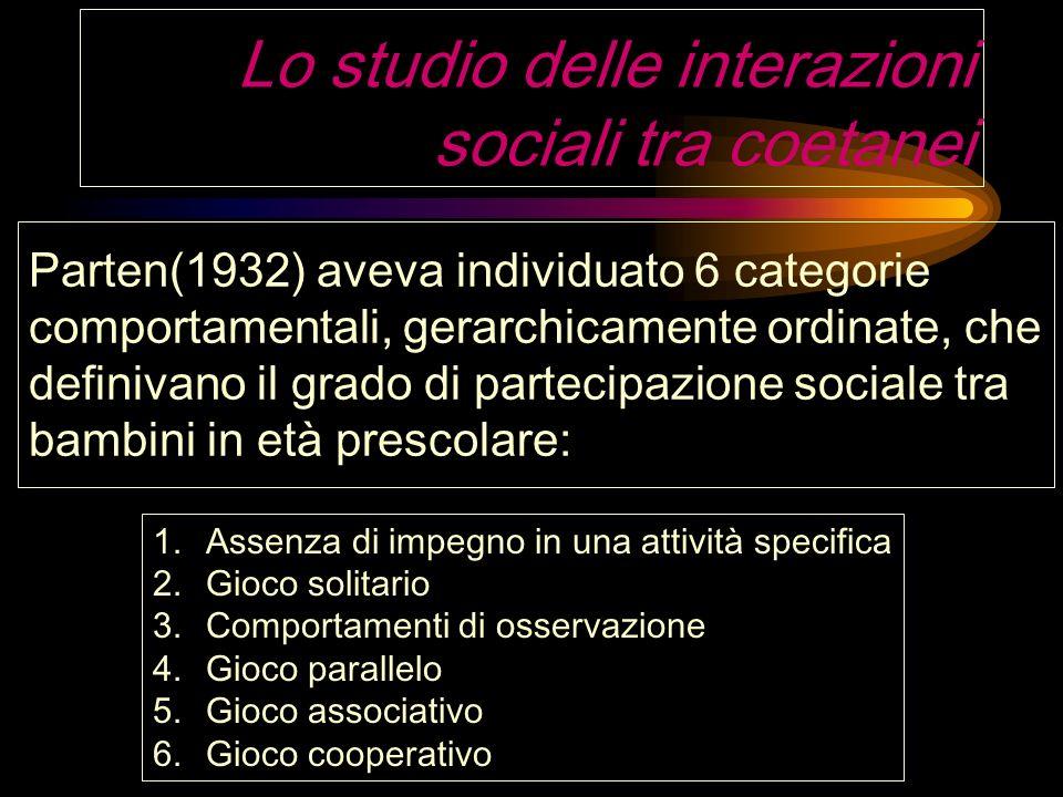 Lo studio delle interazioni sociali tra coetanei