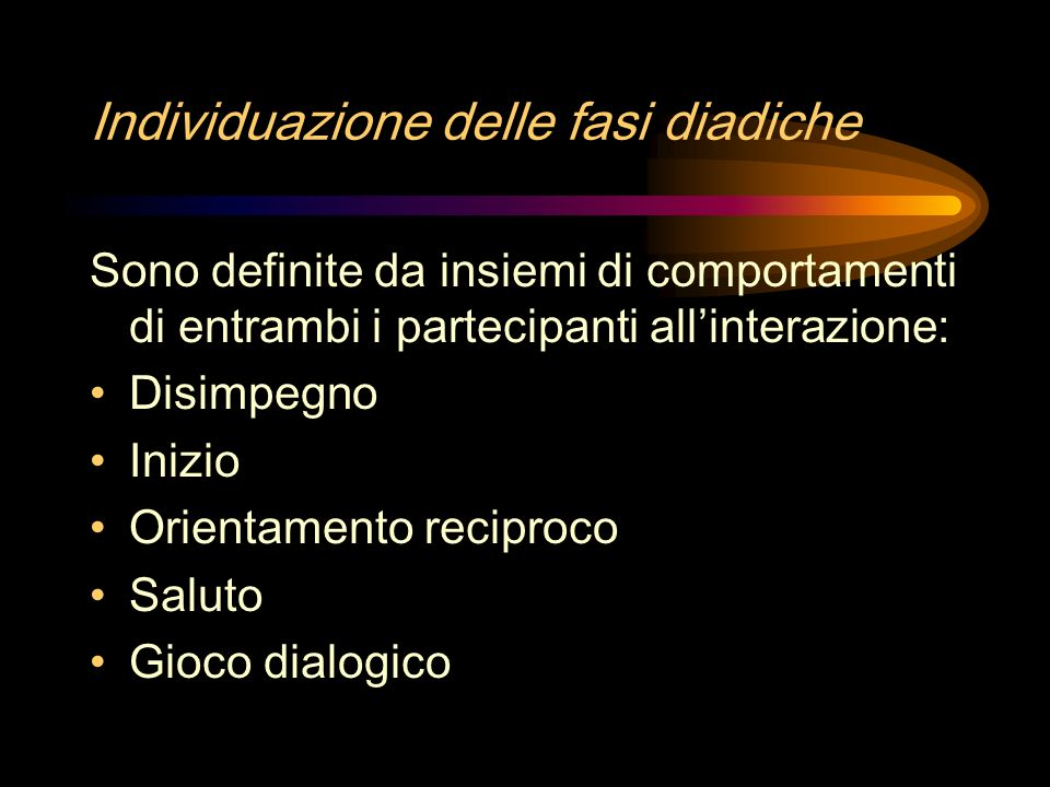 Individuazione delle fasi diadiche