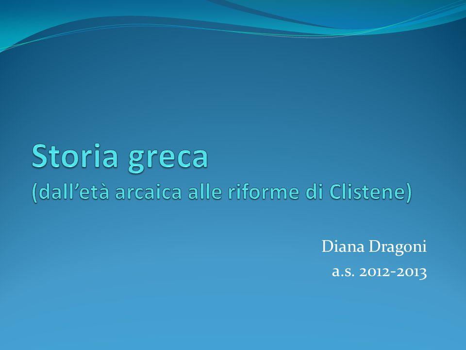 Storia greca (dall'età arcaica alle riforme di Clistene)