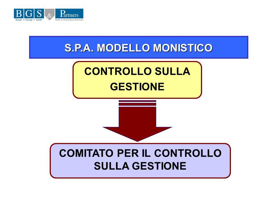 COMITATO PER IL CONTROLLO SULLA GESTIONE