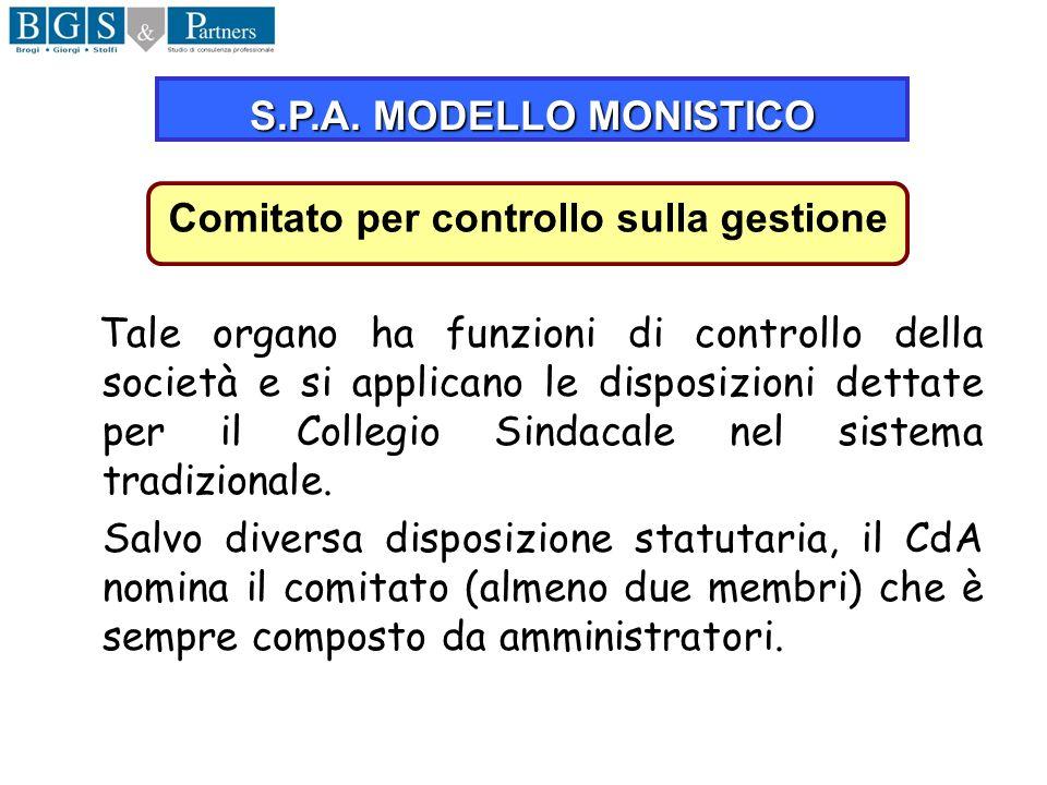 Comitato per controllo sulla gestione
