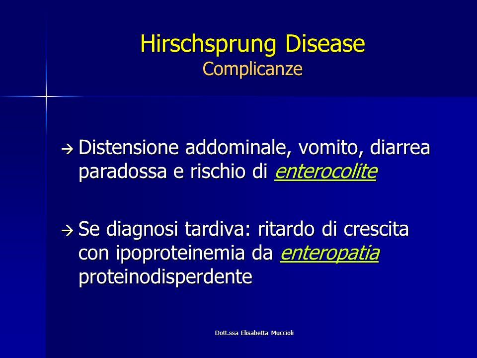 Hirschsprung Disease Complicanze