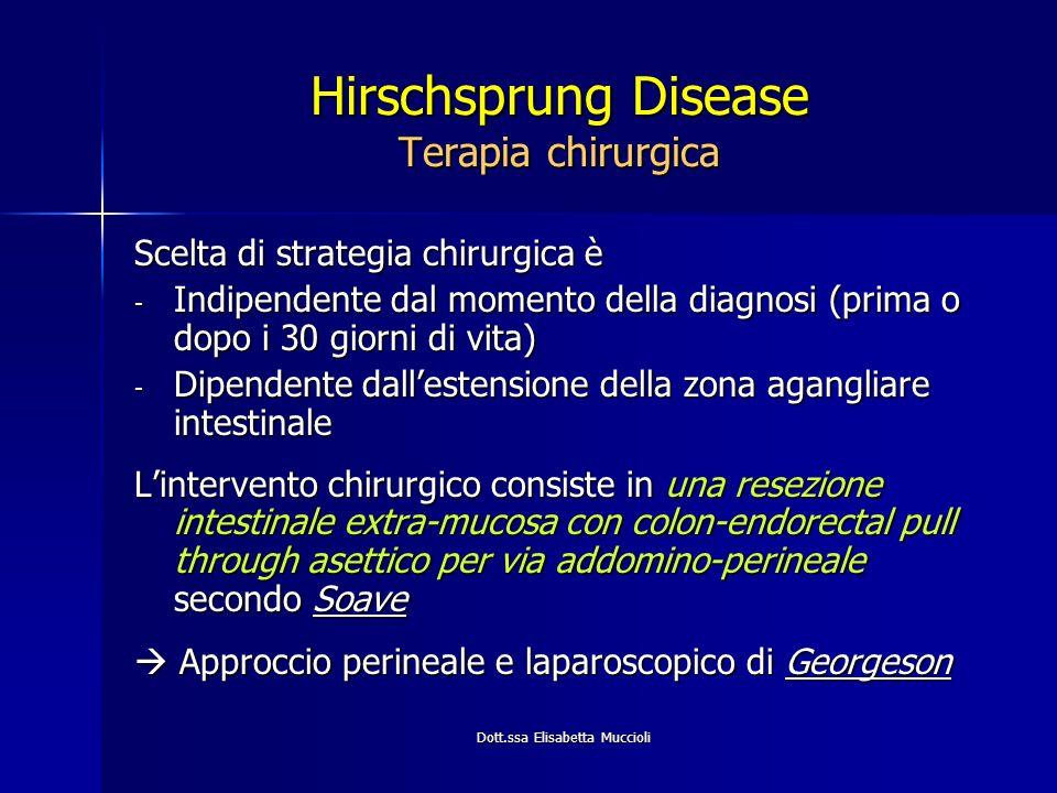 Hirschsprung Disease Terapia chirurgica