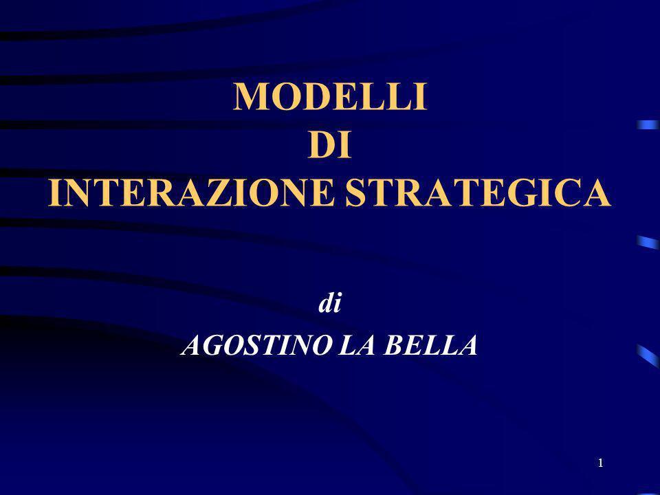MODELLI DI INTERAZIONE STRATEGICA