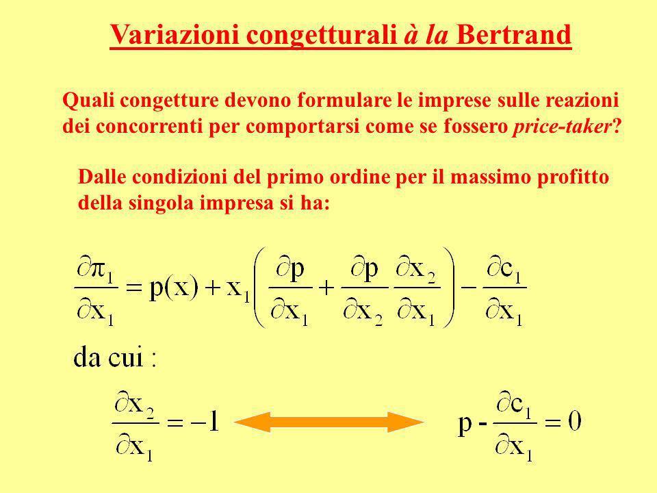 Variazioni congetturali à la Bertrand