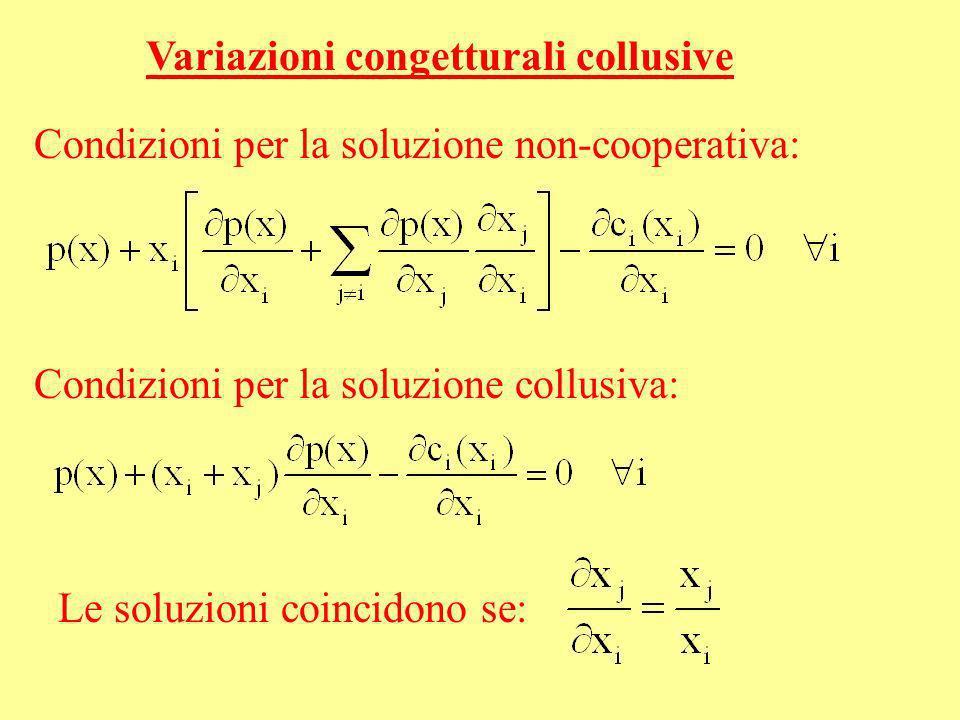 Variazioni congetturali collusive