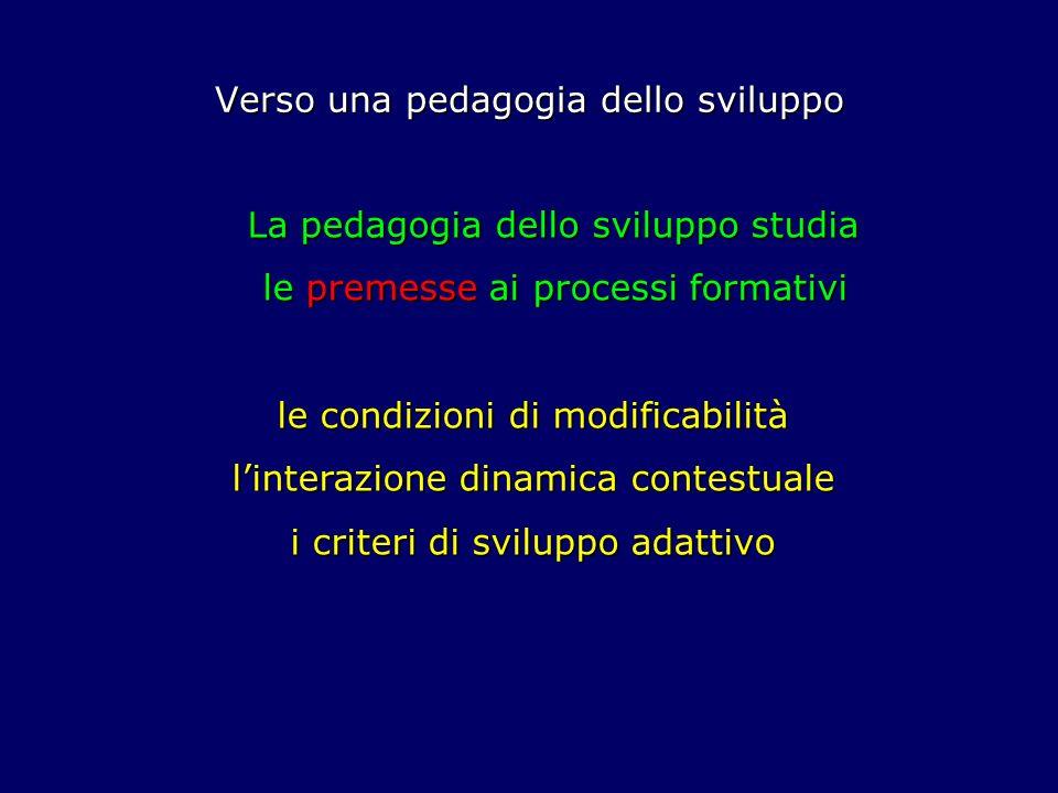 Verso una pedagogia dello sviluppo