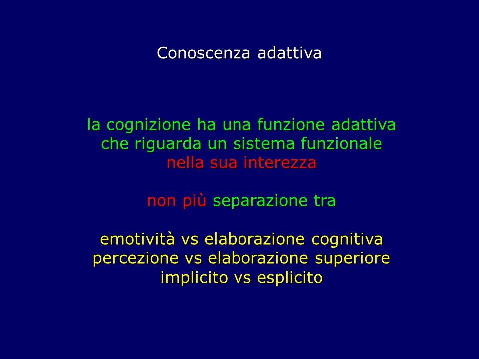 non più separazione tra emotività vs elaborazione cognitiva