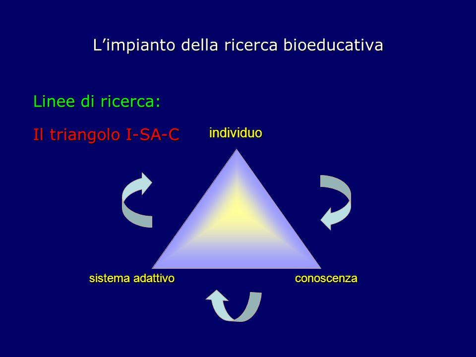 L'impianto della ricerca bioeducativa