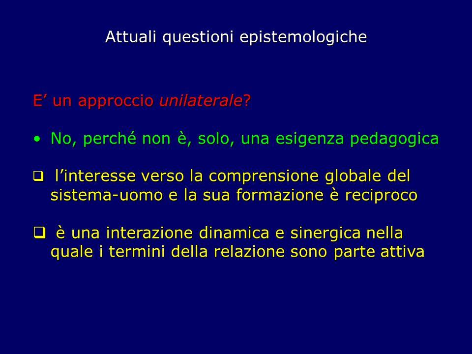 Attuali questioni epistemologiche