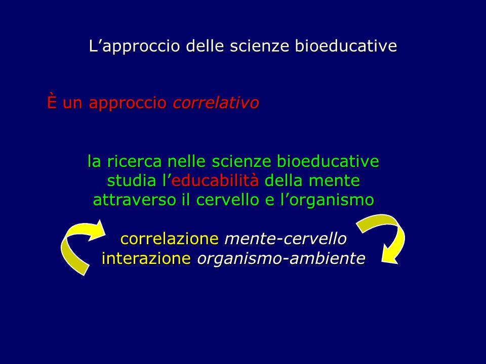 L'approccio delle scienze bioeducative