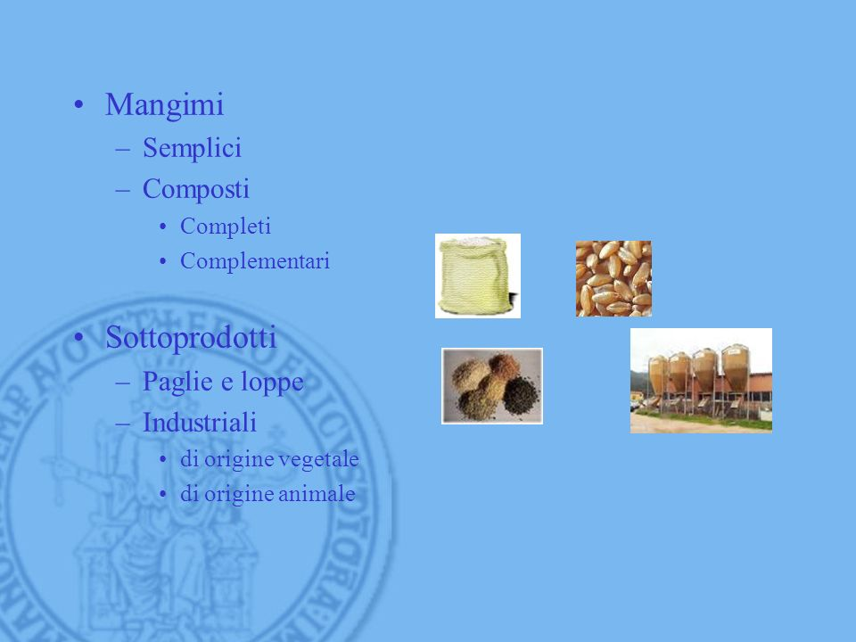 Mangimi Sottoprodotti Semplici Composti Paglie e loppe Industriali