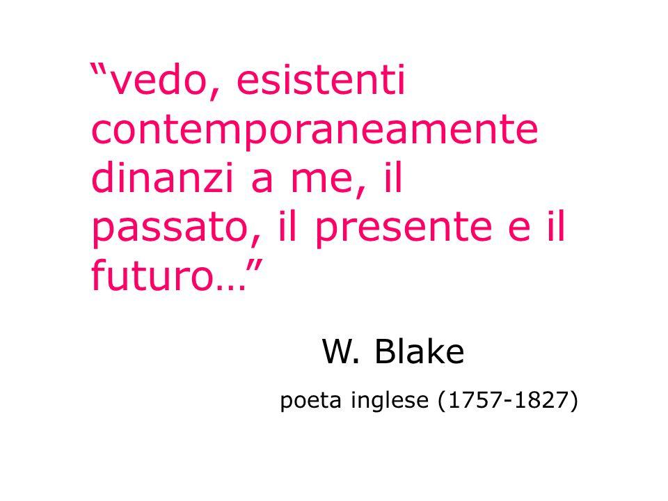 vedo, esistenti contemporaneamente dinanzi a me, il passato, il presente e il futuro…