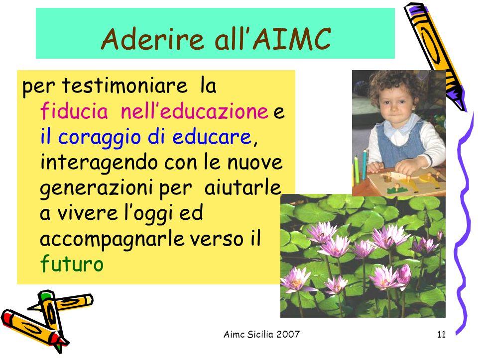 Aderire all'AIMC