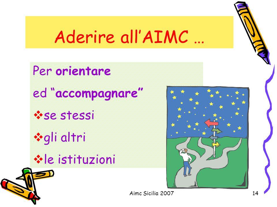 Aderire all'AIMC … Per orientare ed accompagnare se stessi gli altri