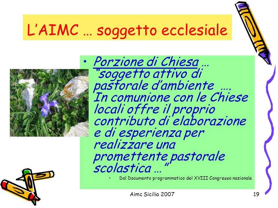 L'AIMC … soggetto ecclesiale