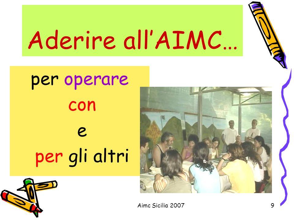 Aderire all'AIMC… per operare con e per gli altri Aimc Sicilia 2007