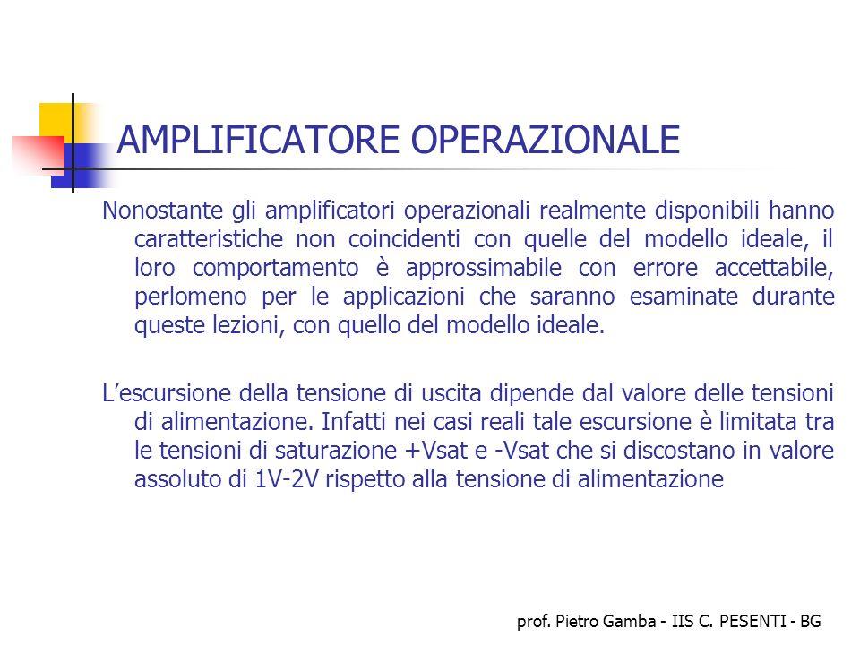 AMPLIFICATORE OPERAZIONALE
