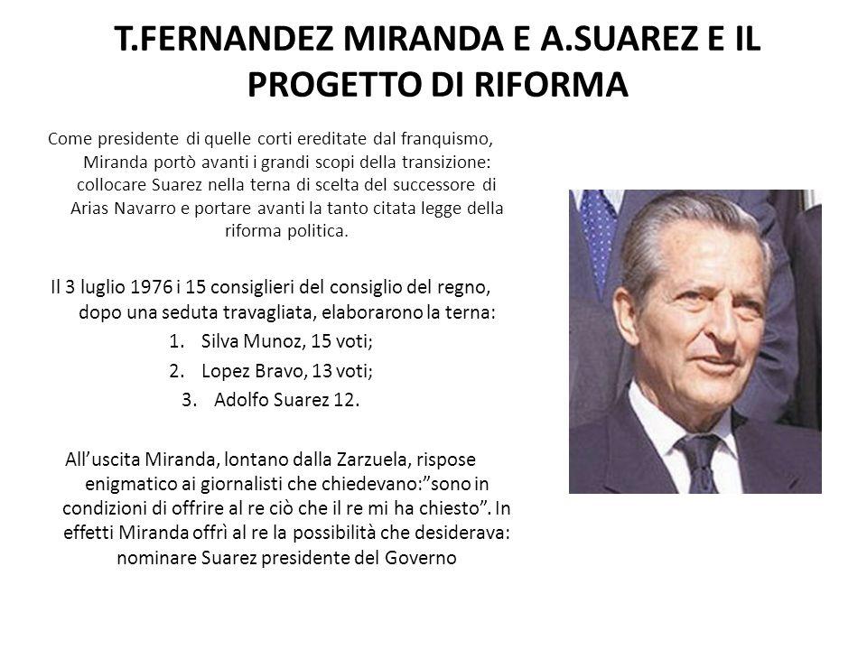 T.FERNANDEZ MIRANDA E A.SUAREZ E IL PROGETTO DI RIFORMA