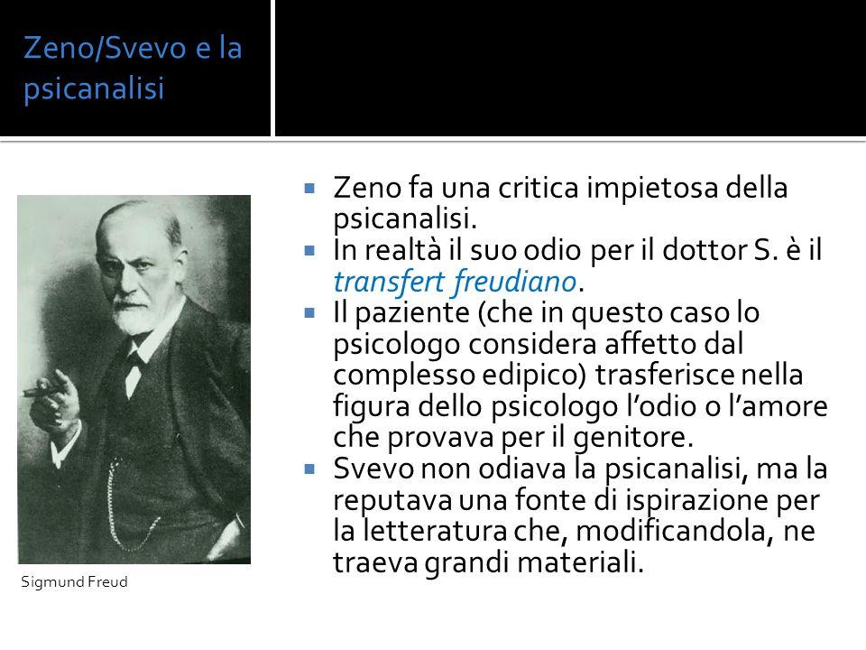 Zeno/Svevo e la psicanalisi