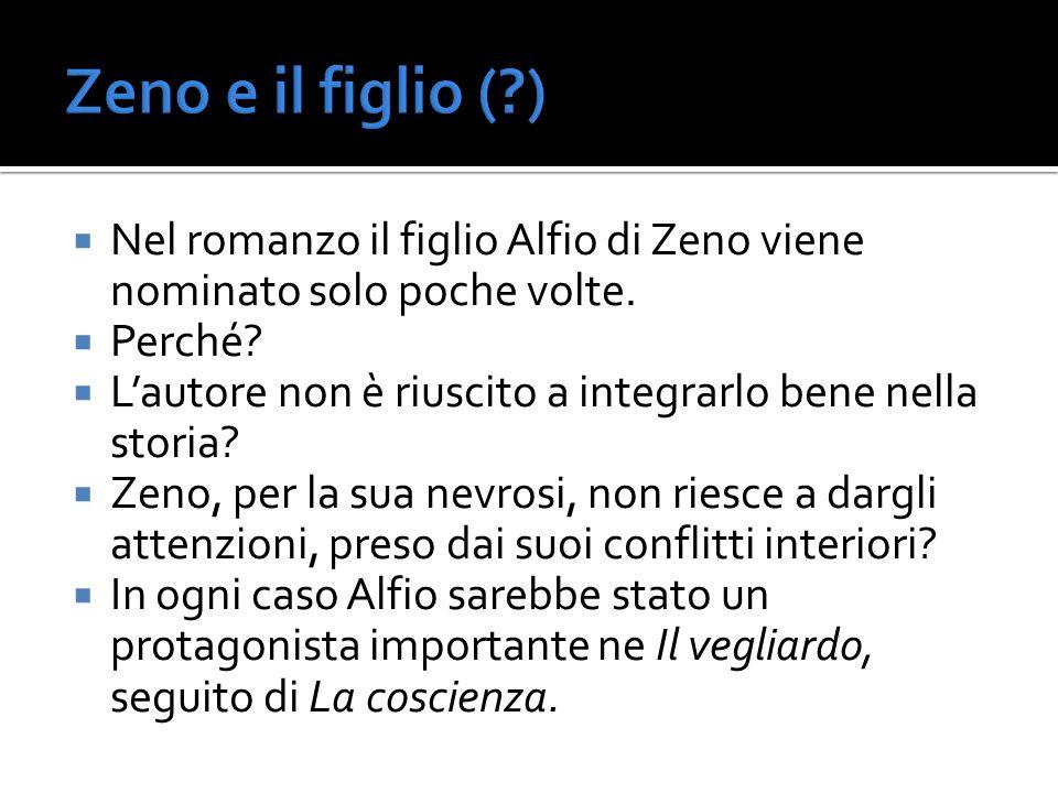 Zeno e il figlio ( ) Nel romanzo il figlio Alfio di Zeno viene nominato solo poche volte. Perché