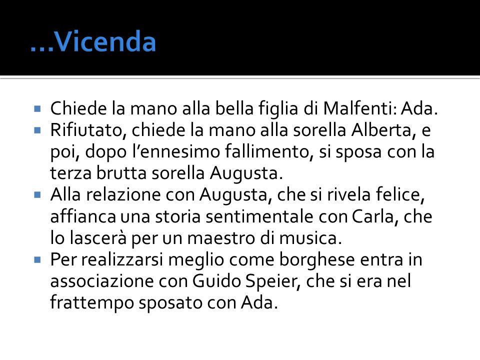 …Vicenda Chiede la mano alla bella figlia di Malfenti: Ada.