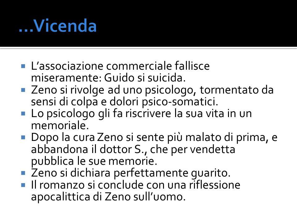 …Vicenda L'associazione commerciale fallisce miseramente: Guido si suicida.