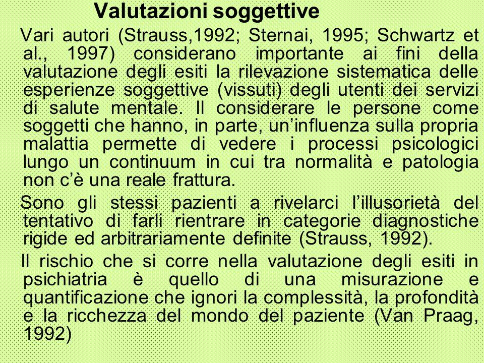Valutazioni soggettive